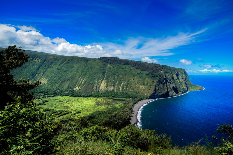 Waipio Valley of the Big Island Hawaii.