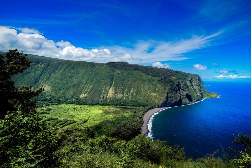 Waipio Valley of the Big Island Hawaii.