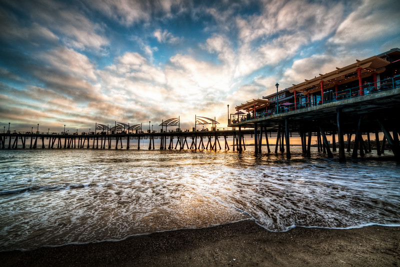 This HDR photo was taken in Redondo Beach California during an amazing summer sunset.