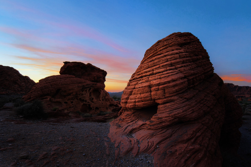 A rock formation at the Valley of Fire, Nevada.