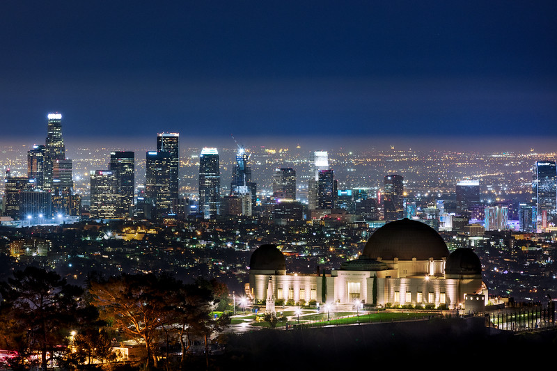 Los Angeles behind the Griffith Observatory