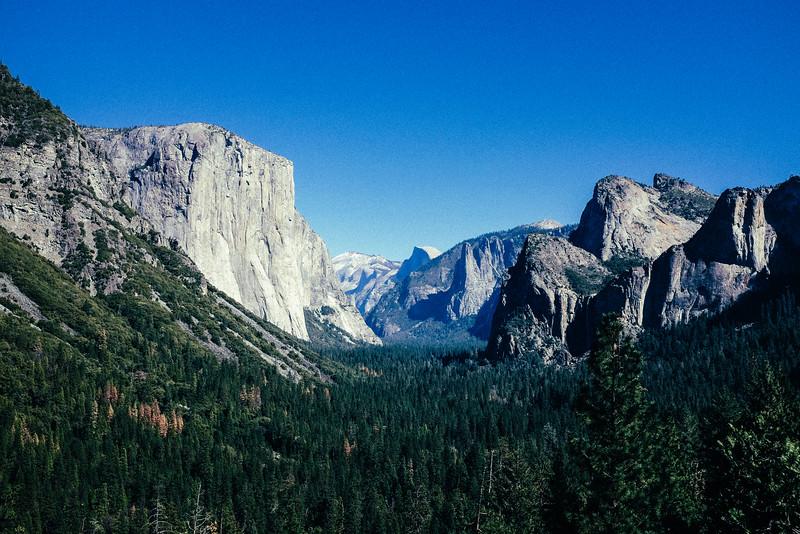 The valley of Yosemite